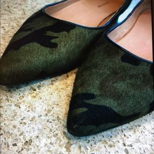 Anthropologie Shoes - Anthropologie All Black Camo Green Flats